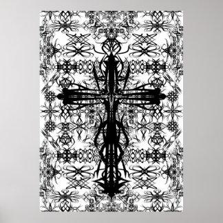 tatoo and cross poster