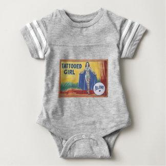 Tatooed Girl Baby Bodysuit