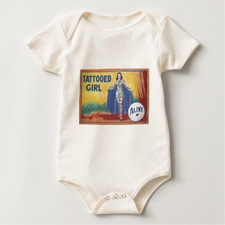 Tatooed Girl Baby Bodysuit