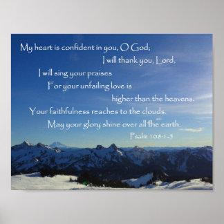 Tatoosh Range, Mount Rainier, Psalm 108 Poster