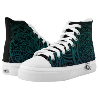 Tatou V - Midnight Teal & Purple High-Top Sneakers