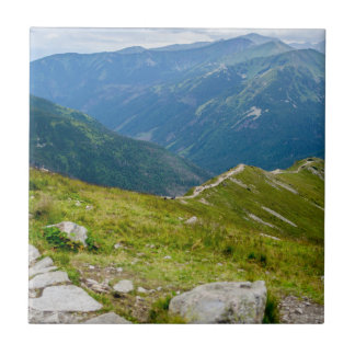 Tatra Mountains Ridge Landscape Photo Tile