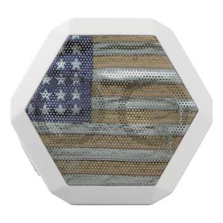 Tattered American Flag White Boombot Rex Bluetooth Speaker