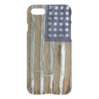 Tattered American Flag iPhone 7 Case