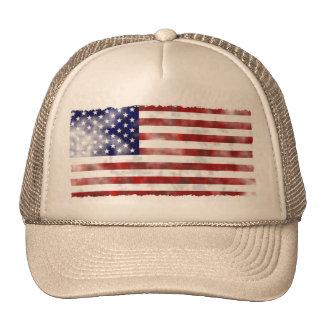 Tattered Vintage American Flag Cap