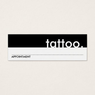 tattoo. (appointment card) mini business card