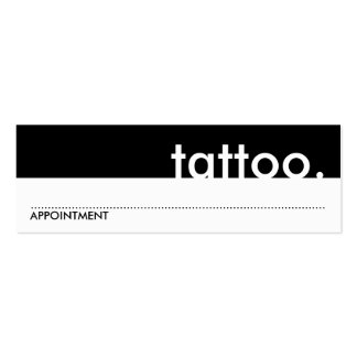 tattoo. (appointment card) pack of skinny business cards