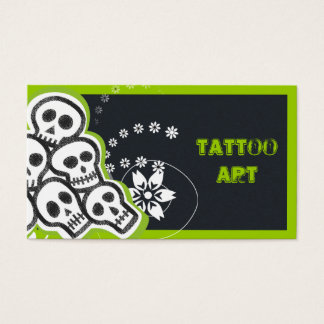 Tattoo Art Business Cards- Skulls Business Card