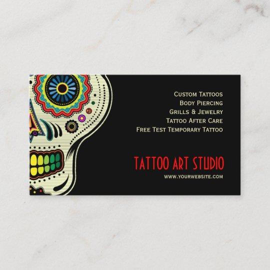 Tattoo Art Shop Business Card Zazzle
