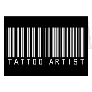 Tattoo Artist Bar Code Card