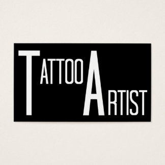 Tattoo Artist Black Simple Business Card