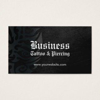Tattoo Artist Body Piercing Professional Dark Business Card