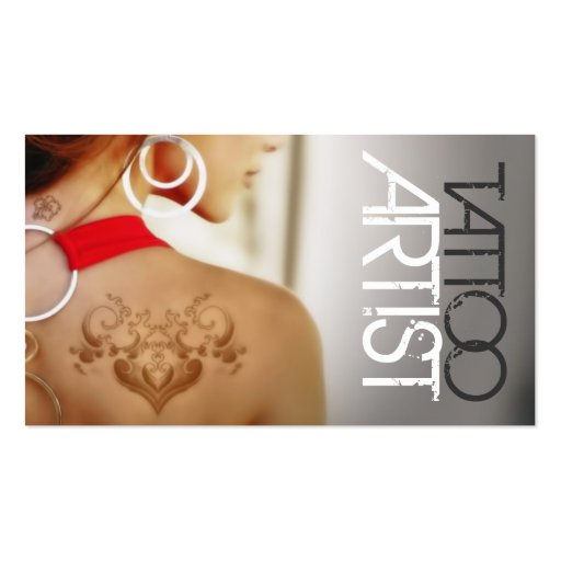 Tattoo artist business card zazzle for Business card size tattoos