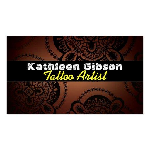 tattoo artist business cards zazzle