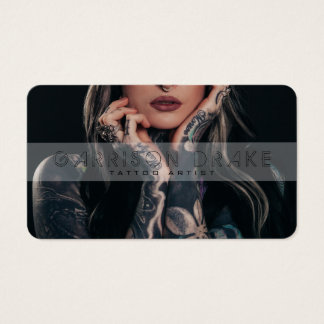 Tattoo Artist Photo Business Card