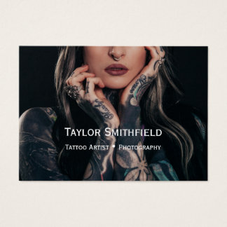 tattoo artist photograph model trend business card