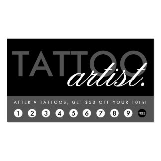 tattoo artist rewards program Double-Sided standard business cards (Pack of 100)