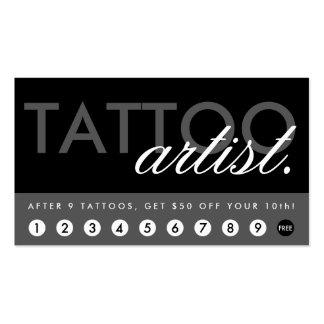 tattoo artist rewards program pack of standard business cards