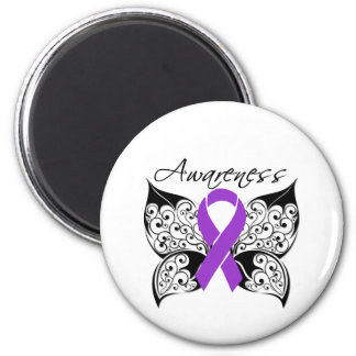 Tattoo Butterfly Awareness - Pancreatic Cancer Magnet