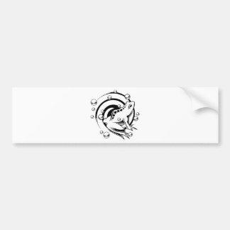 Tattoo Frog Bumper Sticker