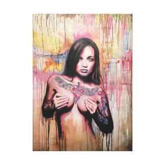 Tattoo Girl Model Canvas Print