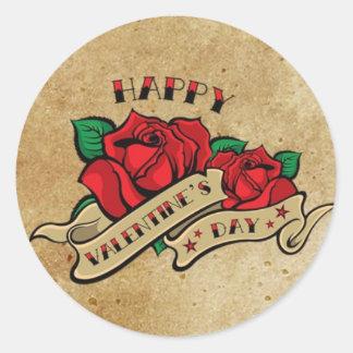 Tattoo Happy Valentine's Day Rose Sticker