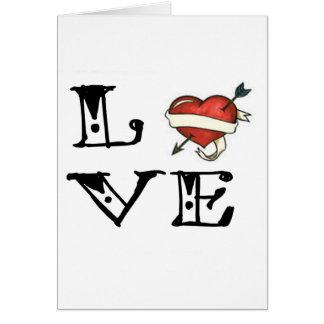 Tattoo Love Heart Greeting Card