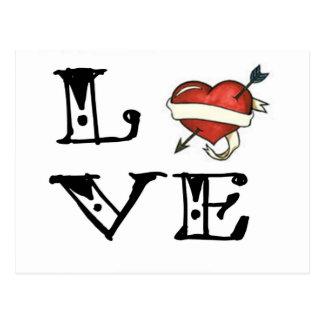 Tattoo Love Heart Postcard