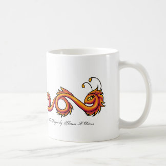 Tattoo Orange Fire Dragon, Fire Dragon by There... Basic White Mug