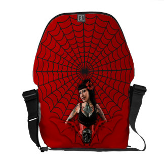 Tattoo Pin Up Courier Bags