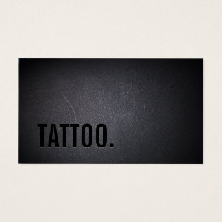 Tattoo Professional Black Bold Minimalist Business Card
