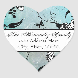 Tattoo Rose and Fluers Address Label Seals/Tags Heart Sticker