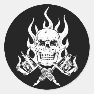 Tattoo Skull Round Sticker