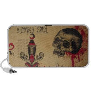 Tattoo skull speaker