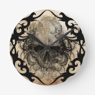 tattoo skull wall clocks