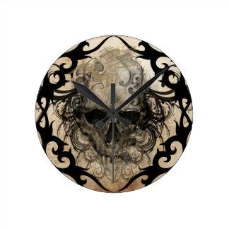 tattoo skull wall clocks