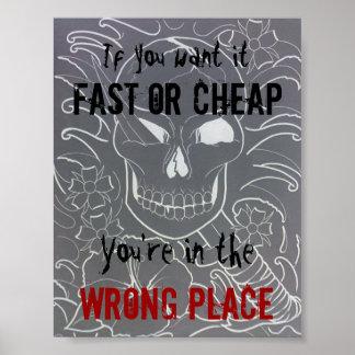 Tattoo Studio Sign Poster