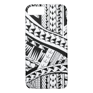 Tattoo style case with Samoan inspired patterns