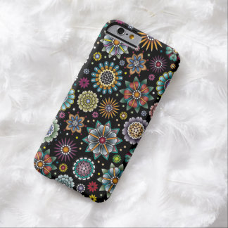 Tattoo Style Flower Doodle Pattern Black Barely There iPhone 6 Case