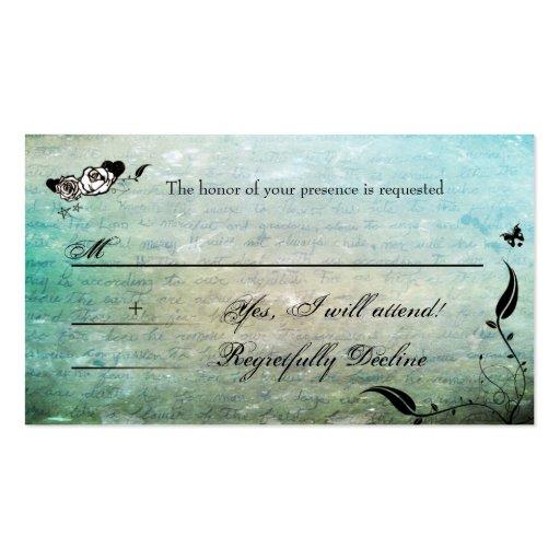Tattoo Sugar Skull Muerte RSVP Cards Business Card Templates