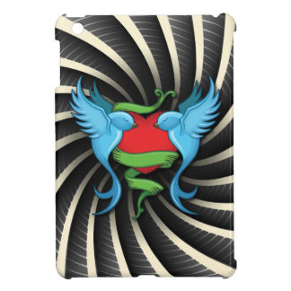 Tattoo Swallows Love Heart Wind Bars iPad Mini Case