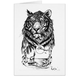 Tattoo Tiger Art Card