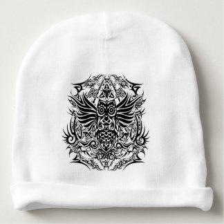Tattoo tribal owl baby beanie