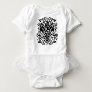Tattoo tribal owl baby bodysuit