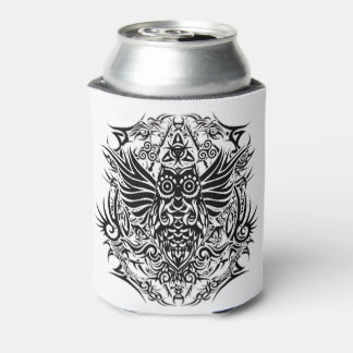 Tattoo tribal owl can cooler