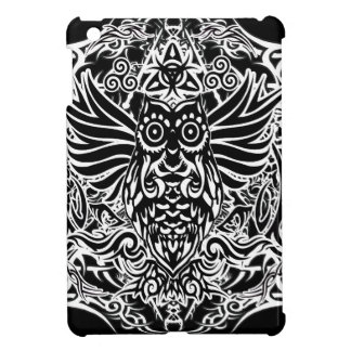 Tattoo tribal owl cover for the iPad mini