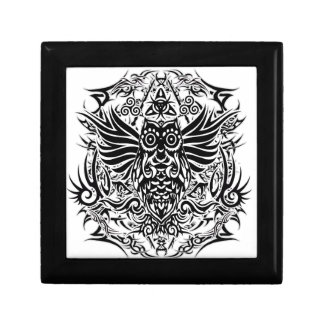 Tattoo tribal owl gift box