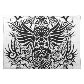 Tattoo tribal owl placemat