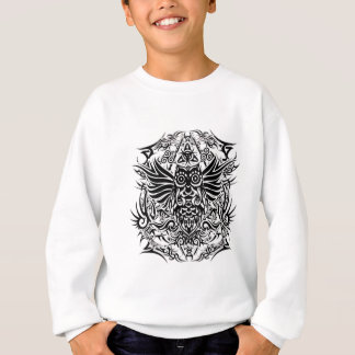 Tattoo tribal owl sweatshirt