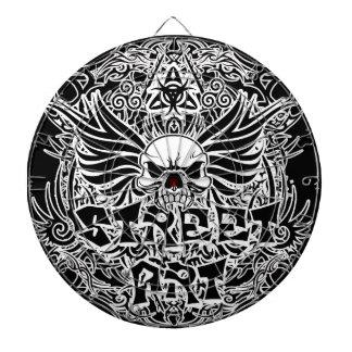 Tattoo tribal street art dartboard